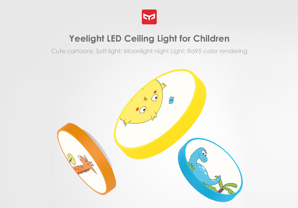xiaomi yeelight children led ceiling light for bedroom and nursery support google home