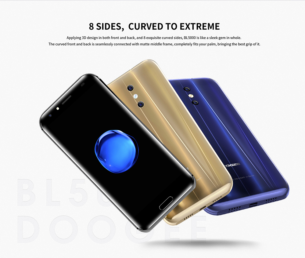DOOGEE BL5000 4G Phablet Android 7.0 5.5 inch MTK6750T Octa Core 1.5GHz 4GB RAM 64GB ROM 13.0MP Dual Rear Cameras 5050mAh Battery