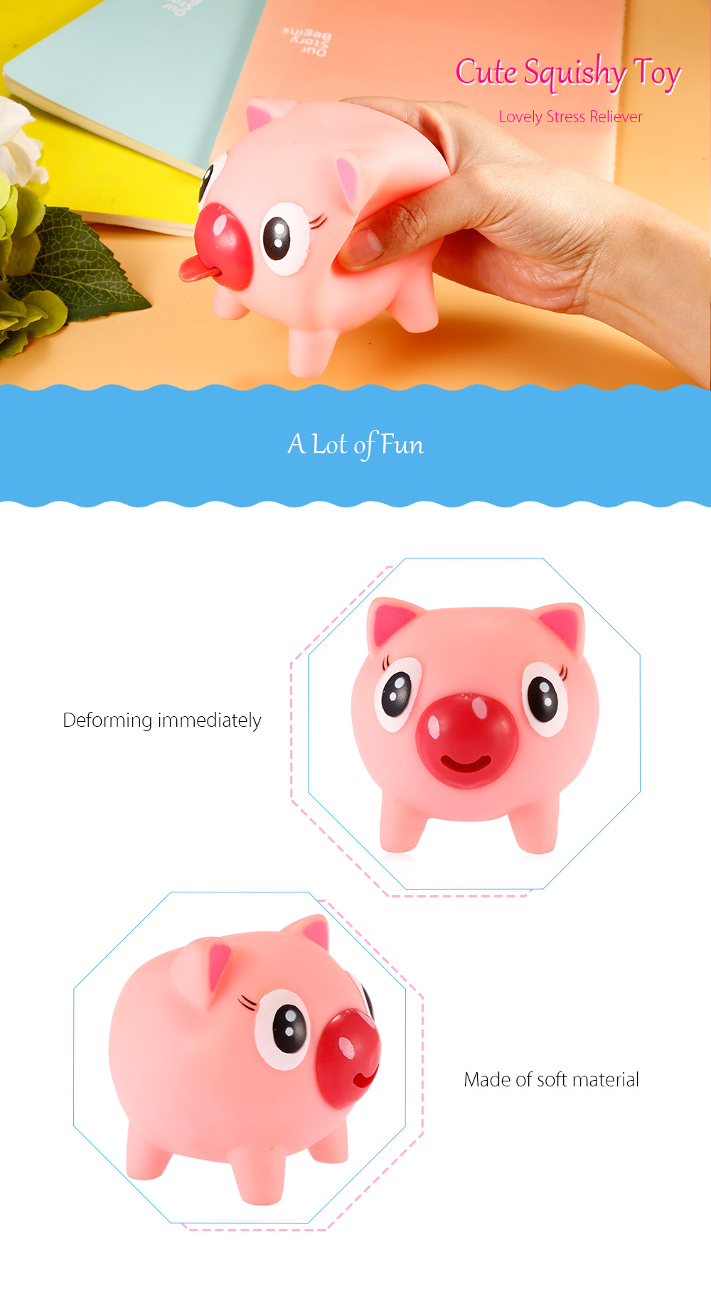 Squishy Rubber Toys : Cute Screaming Jumbo Squishy Cartoon Animal Rubber Toy -  USD1.92 Online Shopping GearBest.com