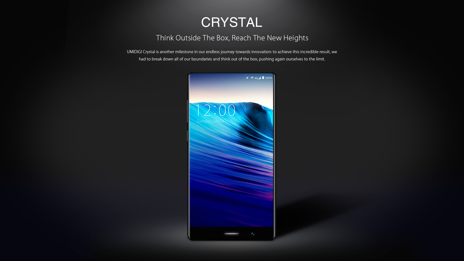 UMIDIGI Crystal 4G Phablet 5.5 inch FHD Screen Android 7.0 MTK6737T Quad Core 1.5GHz 2GB RAM 16GB ROM Fingerprint Scanner Dual Rear Cameras
