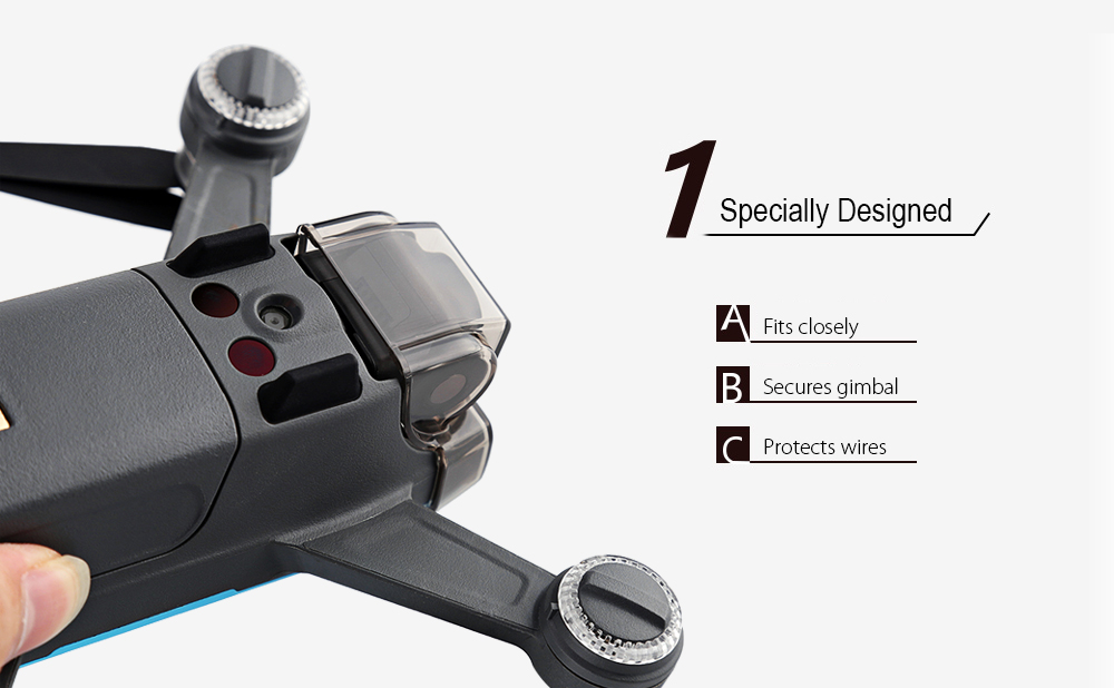 Integrated Acrylic Camera Lens Cover for DJI Spark Mini RC Drone