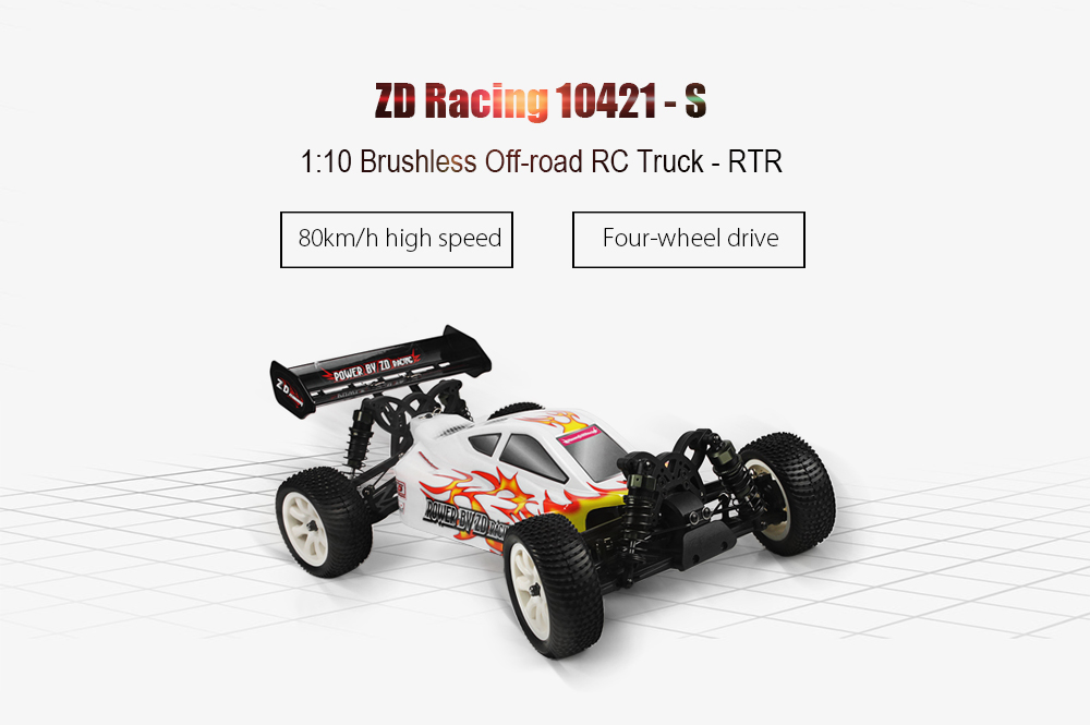 ZD Racing 10421 - S 1:10 Off-road RC Truck RTR 80km/