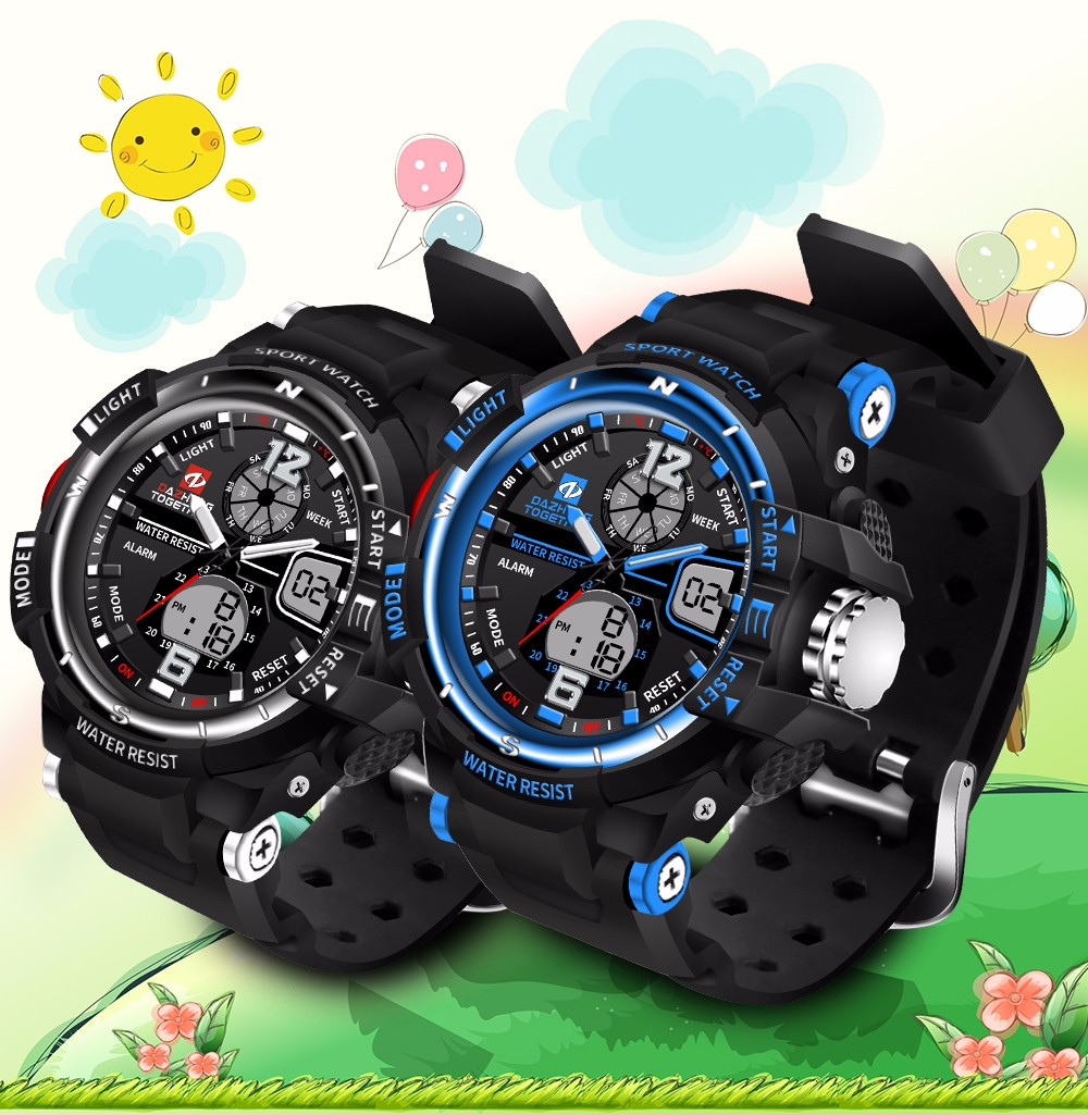 DAZHENG TOGETHER 789 Outdoor Rubber Analog Number Watch