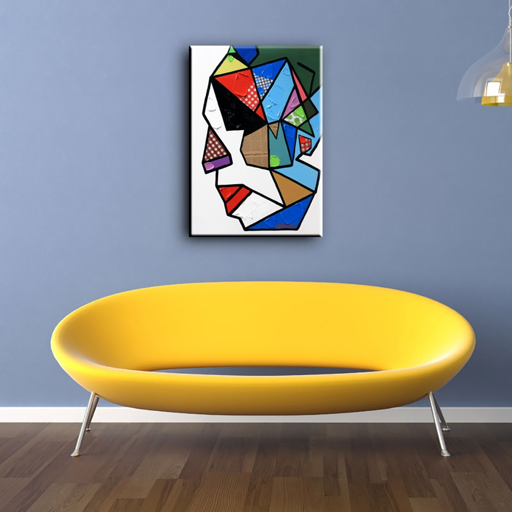 YHHP Abstract Style Colorful Abstract Faces Oil Painting - $34.30 ...