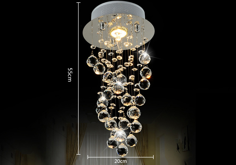 Lightmyself crystal drops led chandelier 4862 free shipping package contents 1 x lightmyself chandelier aloadofball Image collections
