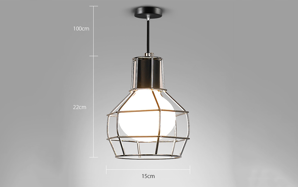 Hanging pendant light iron wire caged guard lighting fixture iron wire lamp caged guard for pendant string ceiling light fixture lamp shade holder keyboard keysfo Gallery