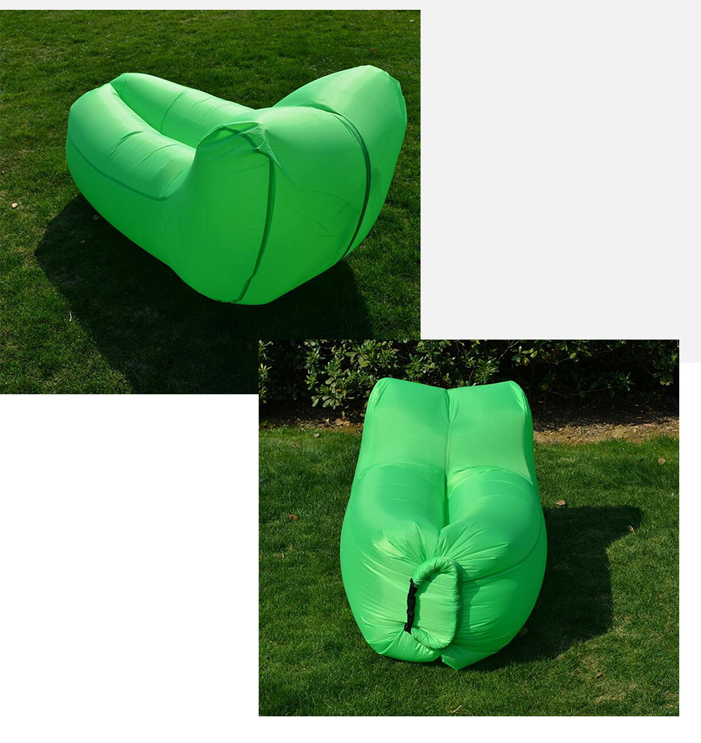 Portable 150kg Loading Inflatable Sofa Bed with Back ...