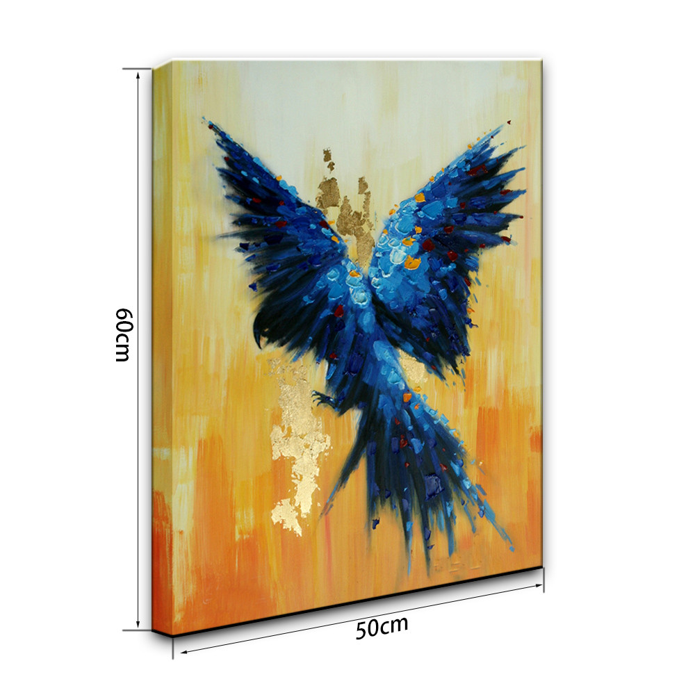 YHHP Hand Painted Flying Parrot Canvas Oil Painting - $26.35 Free ...