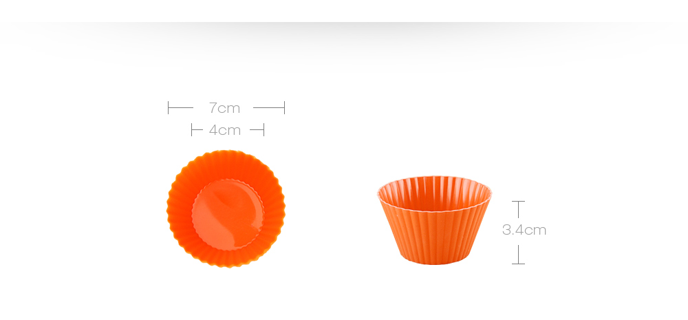 12PCS Silicone Mini Round Reusable Cupcake Muffin Baking Cup- Colormix