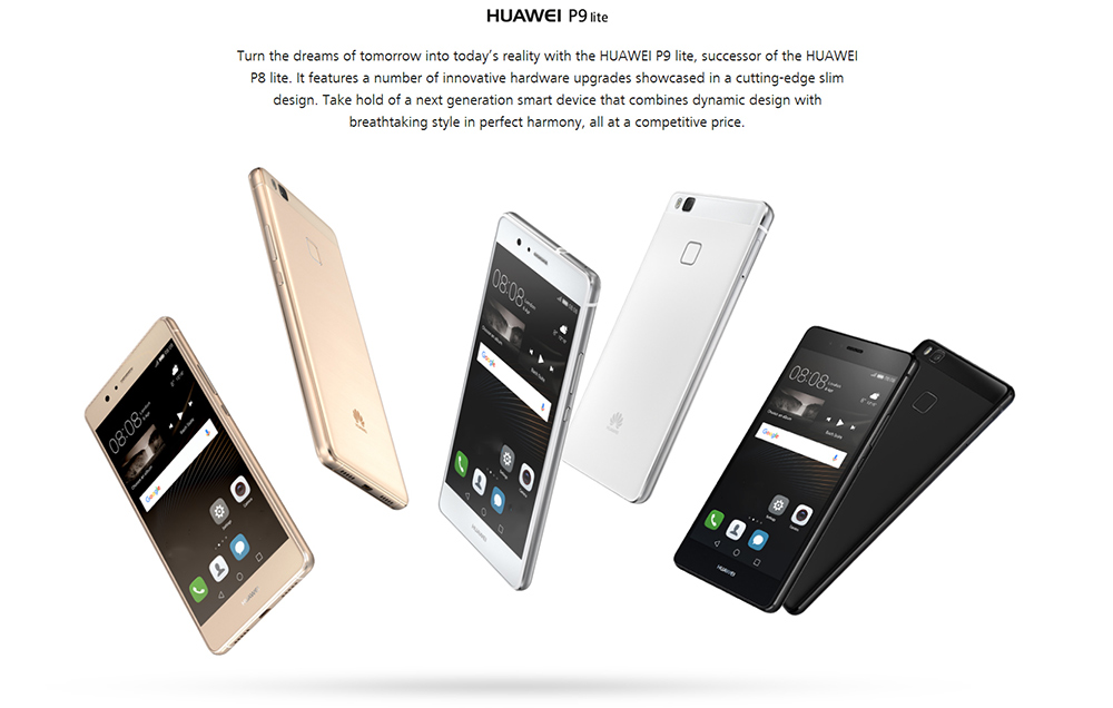 Huawei P9 Lite ( VNS - L31 ) 4G Smartphone 5.2 inch Android M Kirin 650 Octa Core 2.0GHz 3GB RAM 16GB ROM Fingerprint Scanner 13.0MP + 8.0MP Cameras