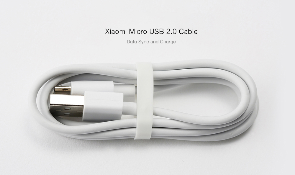 Original Xiaomi Micro USB 2.0 Data Sync Charging Transmission Cable - 1m- White