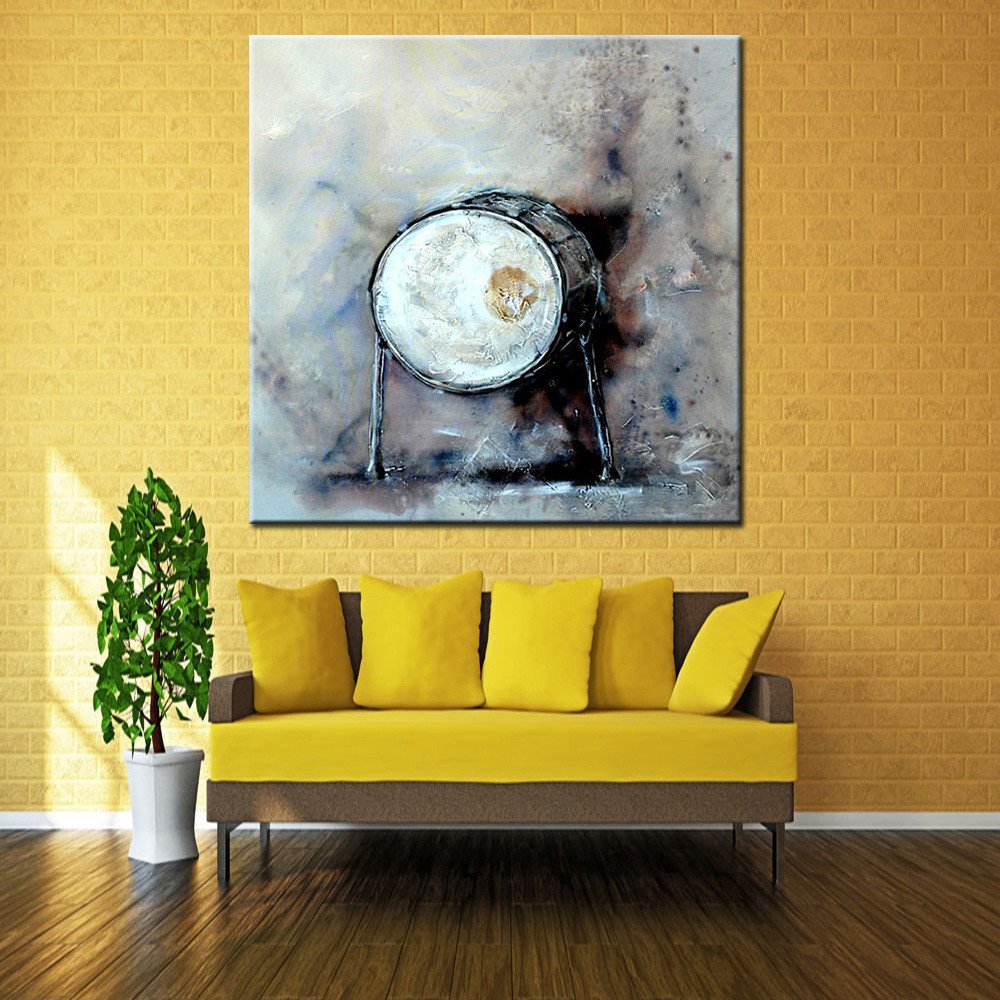 Mintura Hand Painted Drum Canvas Oil Painting -$36.36 Online ...