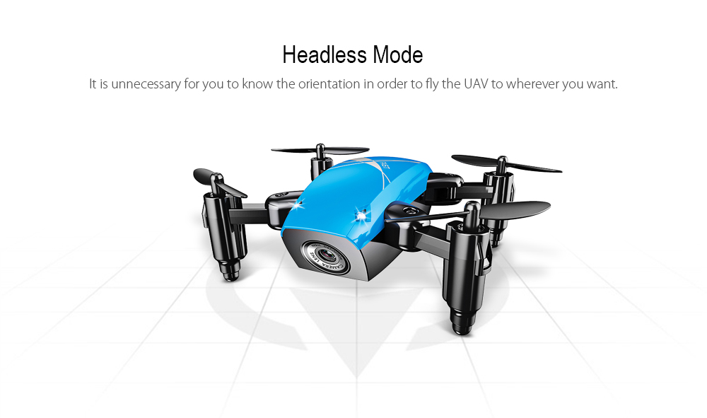 S9 Micro Foldable RC Quadcopter RTF 2.4GHz 4CH 6-axis Gyro / Headless Mode / One Key Return- White WiFi FPV 0.3MP Camera + Altitude Hold