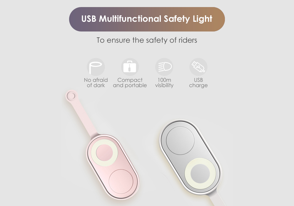 USB Multifunctional Safety Light for Night Riders and Runner