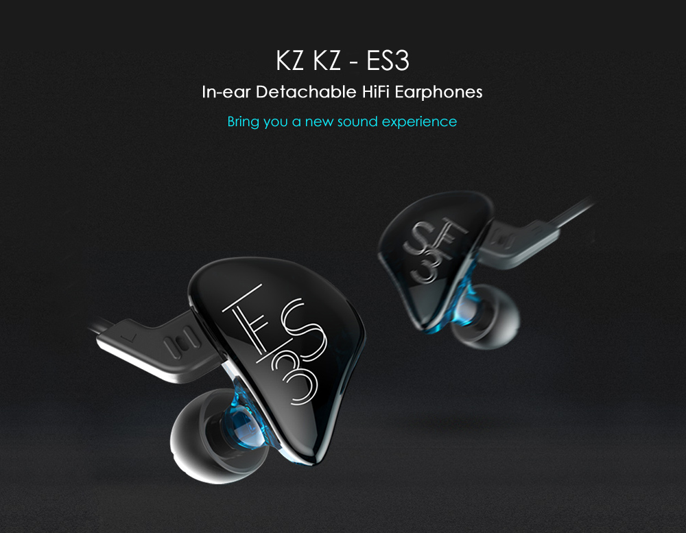 KZ KZ - ES3 In-ear Detachable HiFi Music Earphones with Hybrid Driver Units
