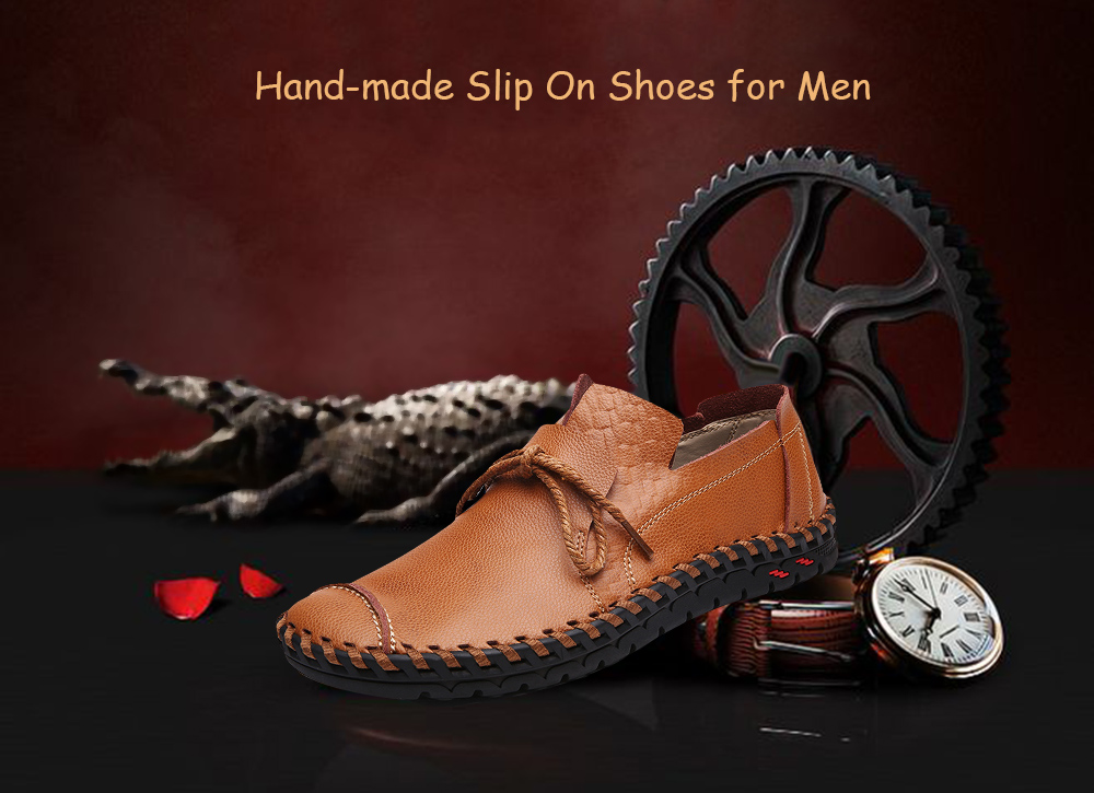 Hand-tooled Loafers Leather Casual Shoes for Men