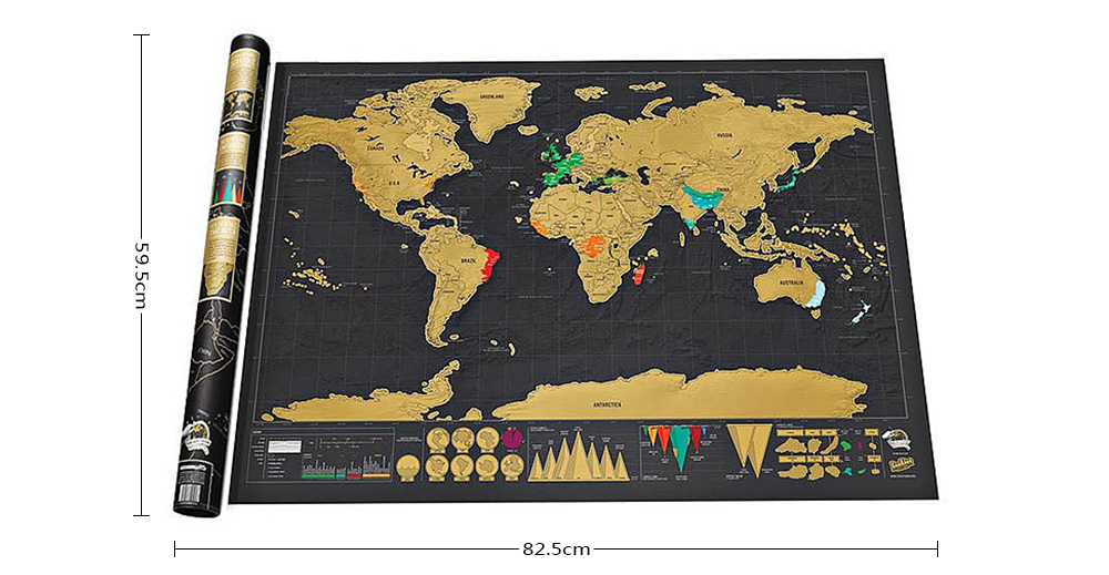 Erase travel world map wall stickers 699 free shippinggearbest package contents 1 x sticker gumiabroncs Image collections