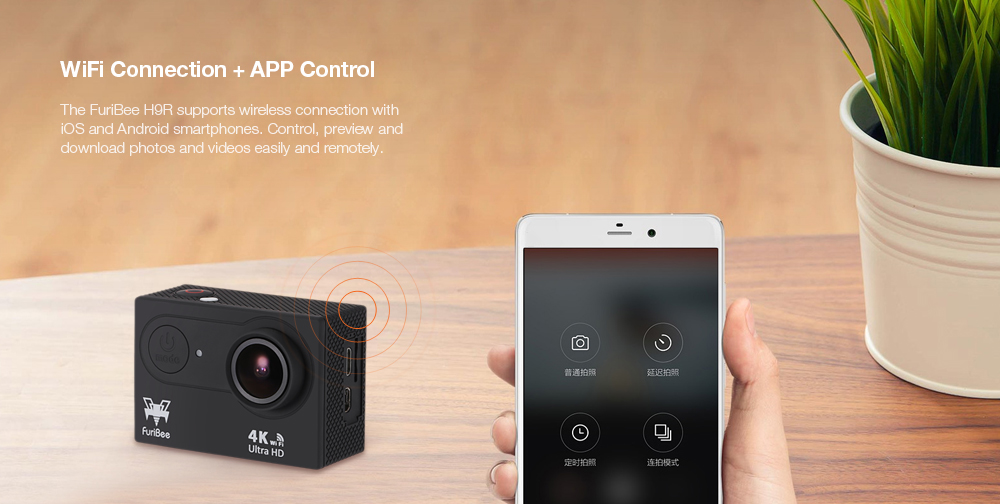 Coupon For Furibee H9R 4K Ultra HD Action Camera 32% Off