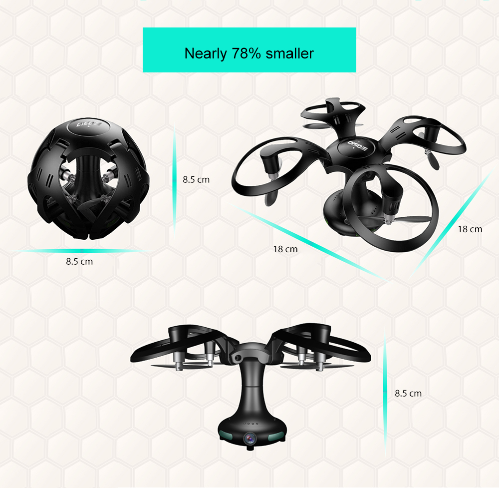 Diso 09 Ball Shape Foldable RC Drone BNF WiFi FPV / Altitude Hold / G-sensor Mode