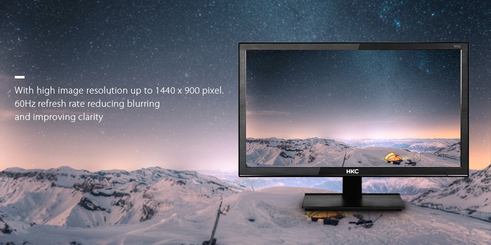 HKC S932 19 inch Computer Monitor with 1440 x 900 Pixel / 60Hz