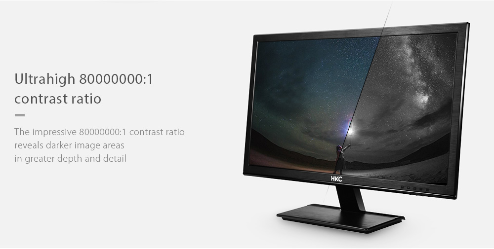 HKC S932i 18.5 inch Computer Monitor with 1360 x 768 Pixel / 60Hz
