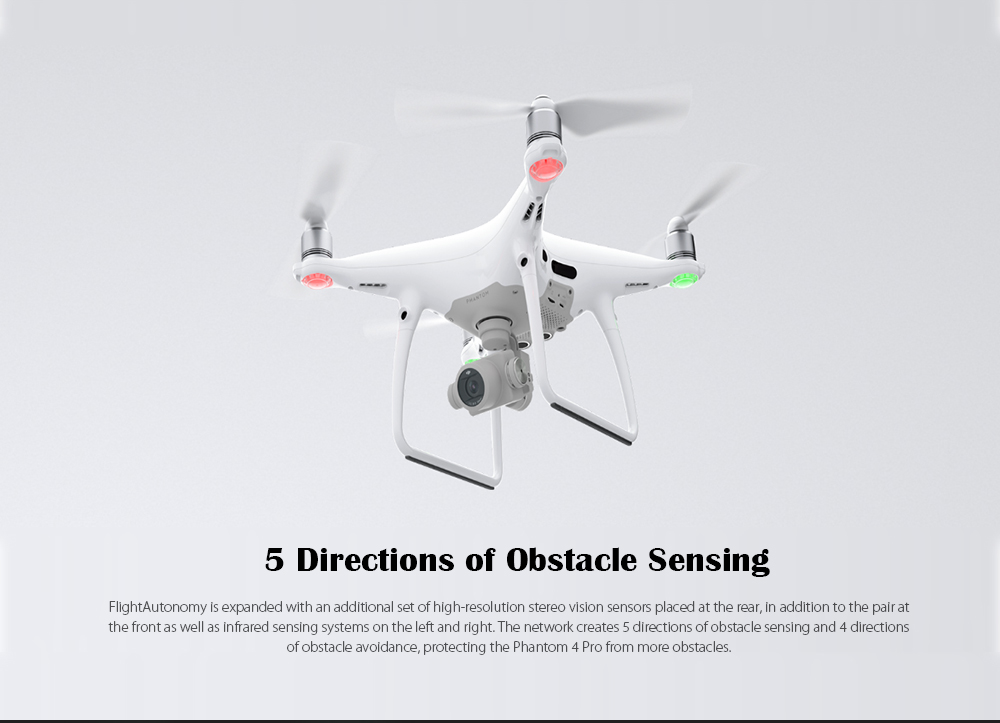 5.8G FPV 4K UHD / 5 Directions of Obstacle Sensing / Gesture Mode- Black