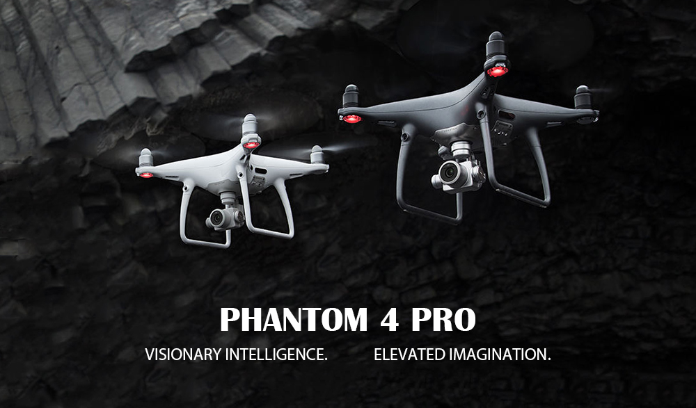 DJI Phantom 4 Pro RC Drone RTF 5.8G FPV 4K UHD / 5 Directions of Obstacle Sensing / Gesture Mode