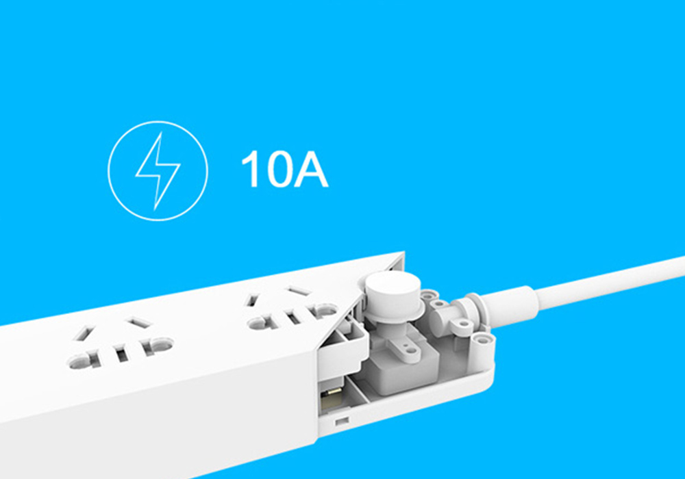 TOCHIC 3 Usb Charging Hub Mini Power Strip with 3 Sockets Standard Plug- White