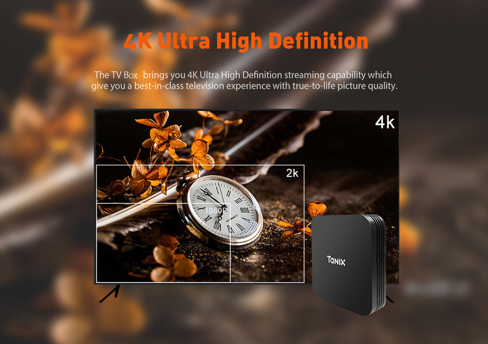 Tanix TX9 Pro TV Box Amlogic S912 Octa-core CPU Android 7.1 OS Bluetooth 4.1 1000M LAN- Black EU Plug