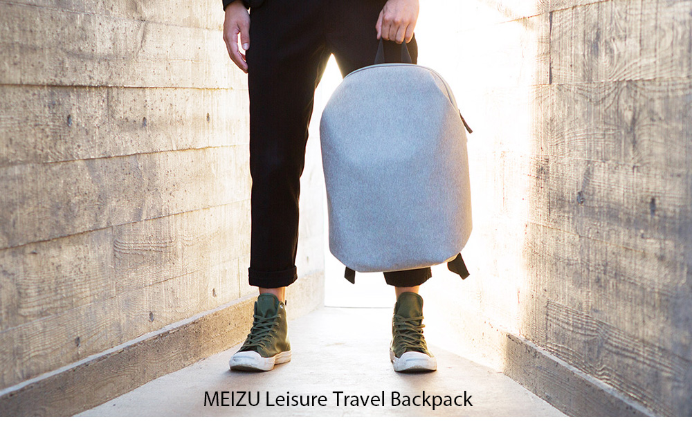 MEIZU Leisure Water-resistant Travel Backpack- Black