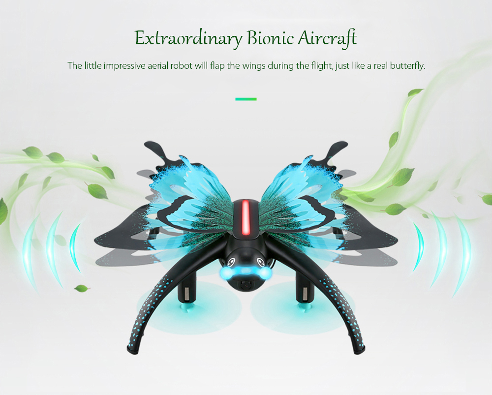 JJRC H42WH Butterfly Mini RC Drone RTF WiFi FPV 0.3MP Camera / Voice Control / Waypoints