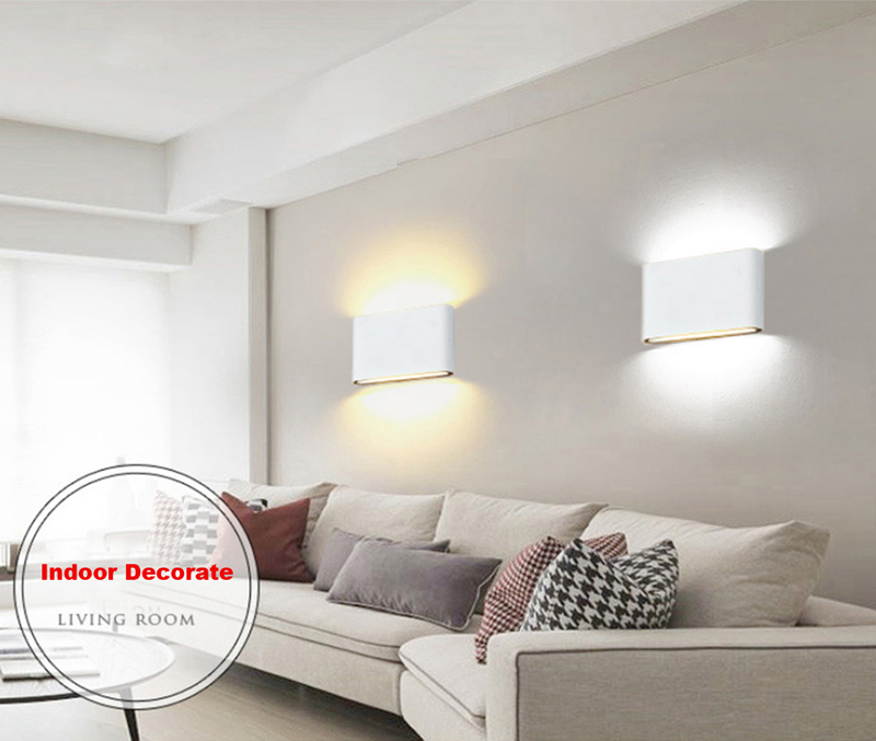 6W Led Wall Light Up down led Stair Bedside Lamp Bedroom Reading ...