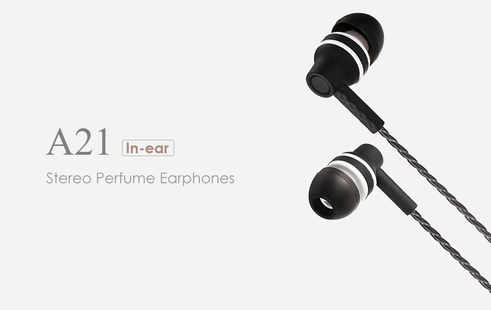 A21 Universal 3.5mm Twisting In-ear Stereo Earphones with Mic