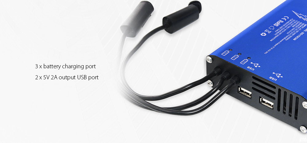 3-in-1 Battery DC 5V 2A USB Output Charger for Xiaomi Mi Drone RC Quadcopter- Blue
