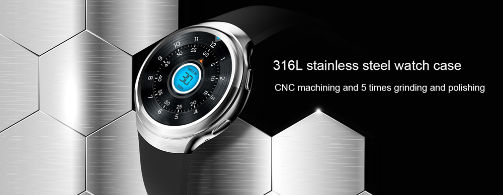 LEMFO LES2 3G Smartwatch Phone 1.3 inch IPS Screen Android 5.1 MTK6580 1.3GHz 1GB RAM 16GB ROM Quad Core Pedometer GPS Bluetooth 4.0 Heart Rate Monitor WiFi