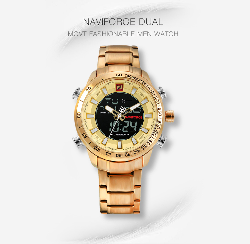 NAVIFORCE 9093 Luxury Dual Movt Men Watch