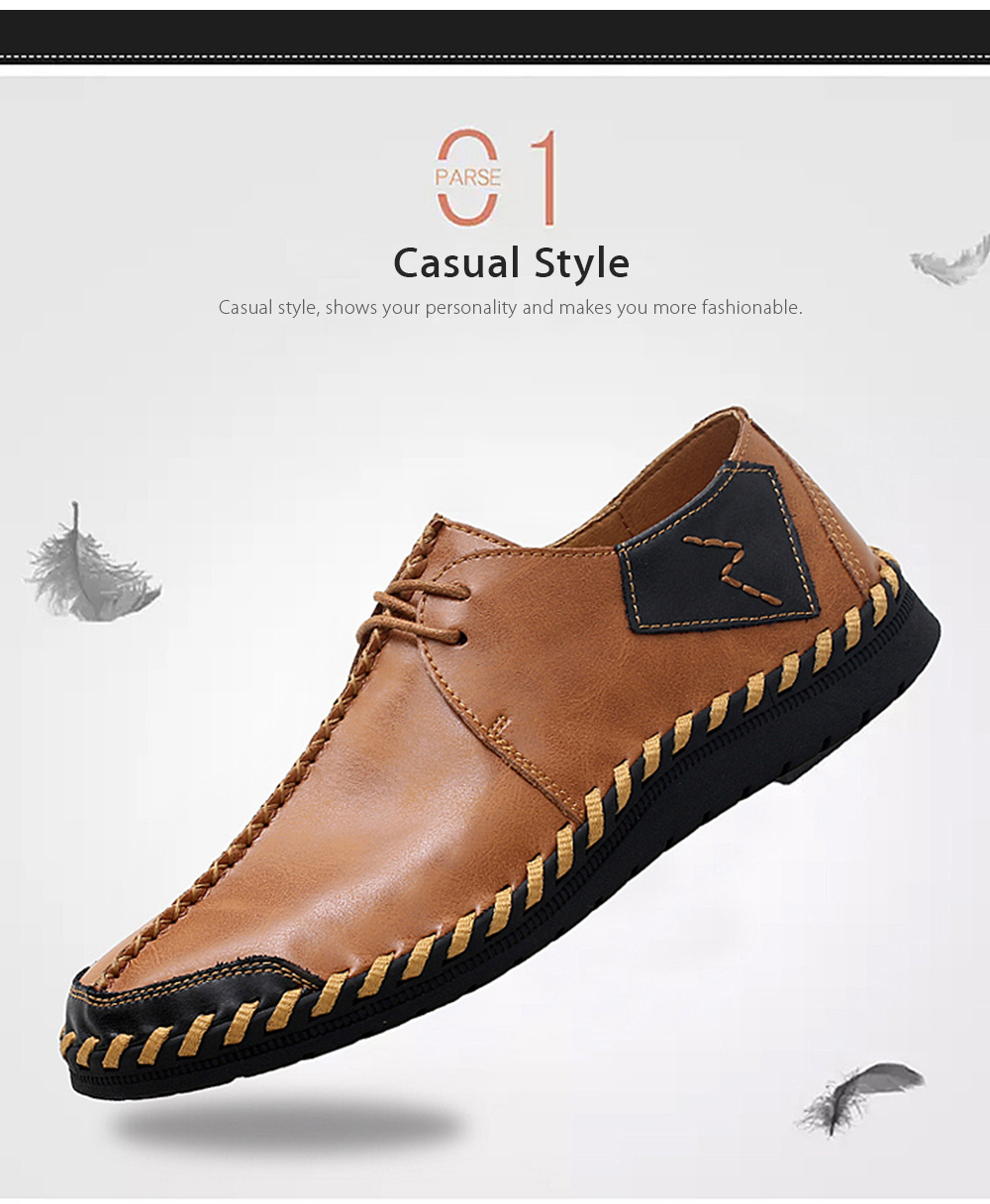 Soft Thin Light Stitching Manual Casual Oxford Shoes for Men