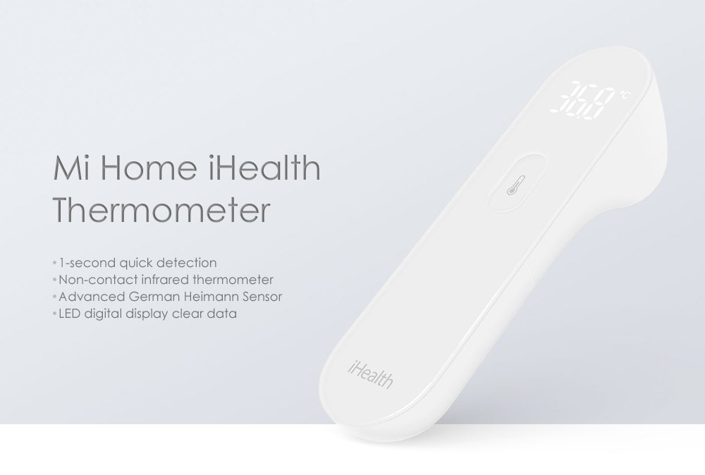 Xiaomi Mi Home iHealth Thermometer Electronic LED Digital Display Body Health Detector- White