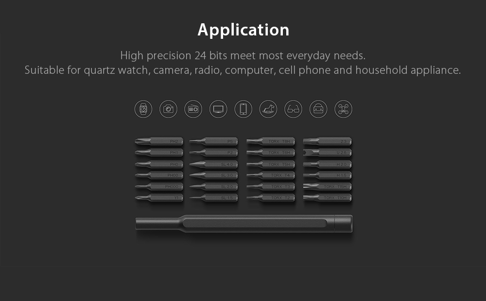 Xiaomi Wiha 24 in 1 Precision Screwdriver Kit for Repairing Work
