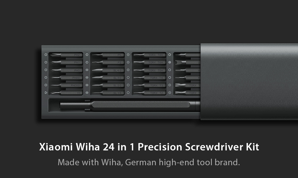 Xiaomi Wiha 24 in 1 Precision Screwdriver Kit for Repairing Work- Gray