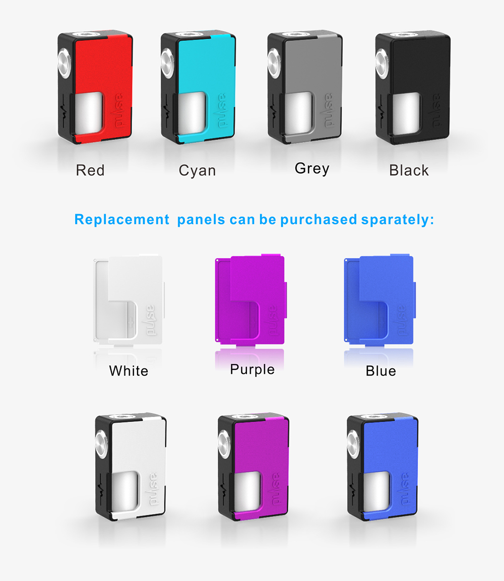 Original Vandy Vape Pulse BF Squonk Mod with Replaceable Front / Back Panels / 8ml Capacity / Supporting 1pc 18650 / 20700 Battery for E Cigarette