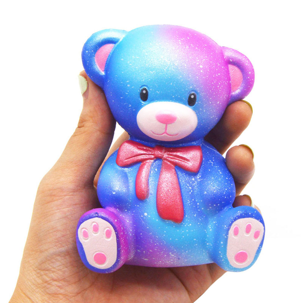 317027b45cd3 Lovely Galaxy Style Bear Pattern Squishy Toy with Scented Odor for Pressure  Reducing- Blue