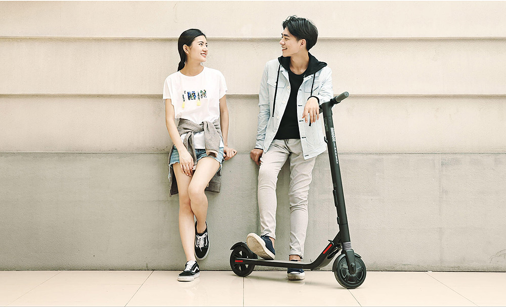 Ninebot Segway ES1 No. 9 Folding Electric Scooter with 5.2Ah Battery 8 / 7.5 inch Tire ( Standard Version ) from Xiaomi mijia- Black