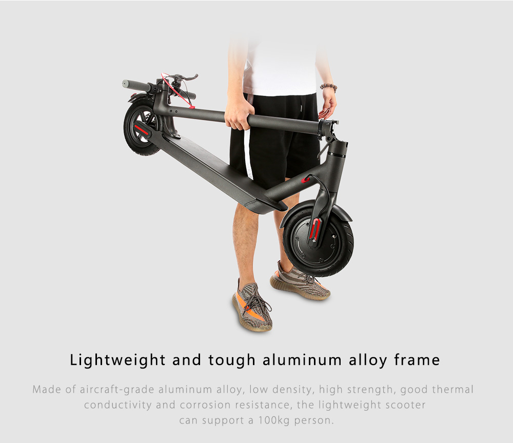 Rcharlance S8 5.2Ah Battery 8.5 inch Dual Wheels Folding Electric Scooter with EU Plug- Black