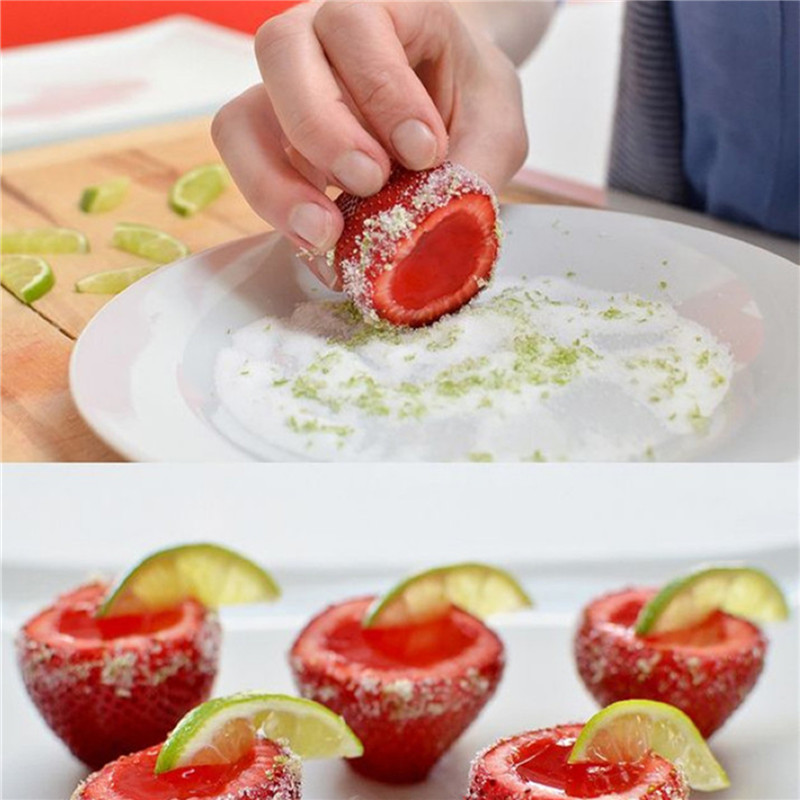 Strawberry Hullers Fruits Digging Tools Tomato Nuclear Corers Stalks Stem Remover Fruit Knife Kitchen Accessory- American Beauty