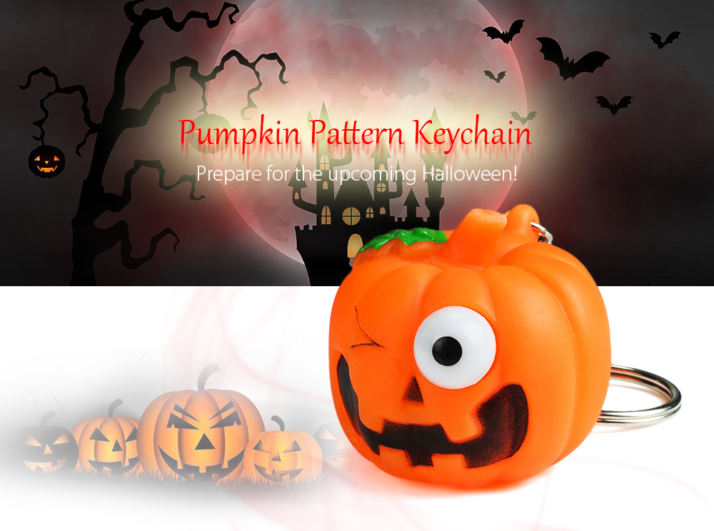 Creative Pretty Keychain Pumpkin Pattern Pop-out Eyes