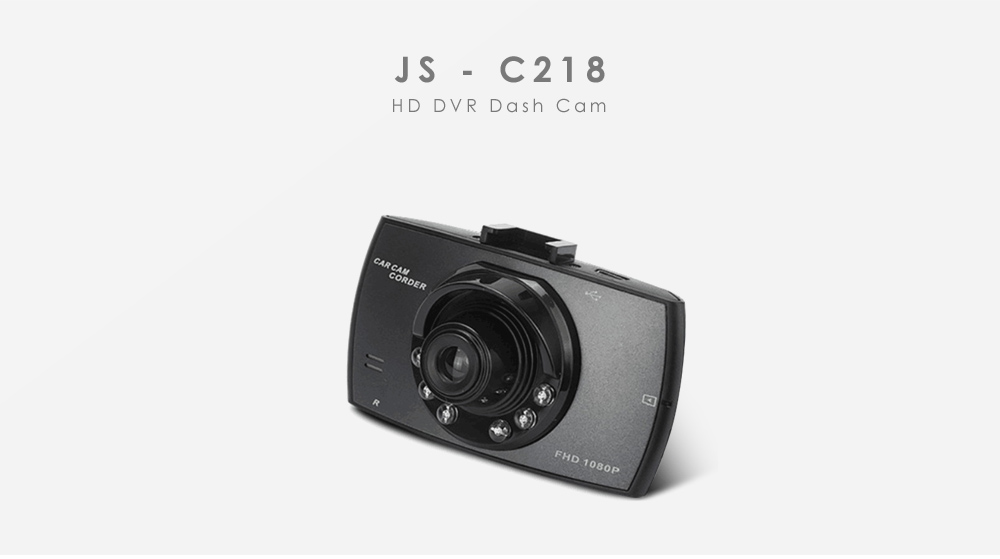 JS - C218 HD DVR Dash Cam with Night Vision Function