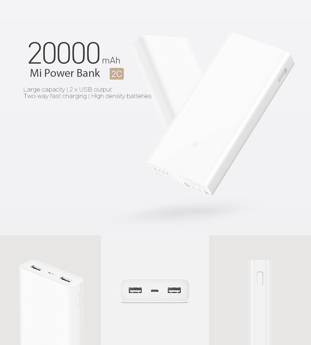 xiaomi mi 20000 mah 20000mah powerbank power bank version. Black Bedroom Furniture Sets. Home Design Ideas