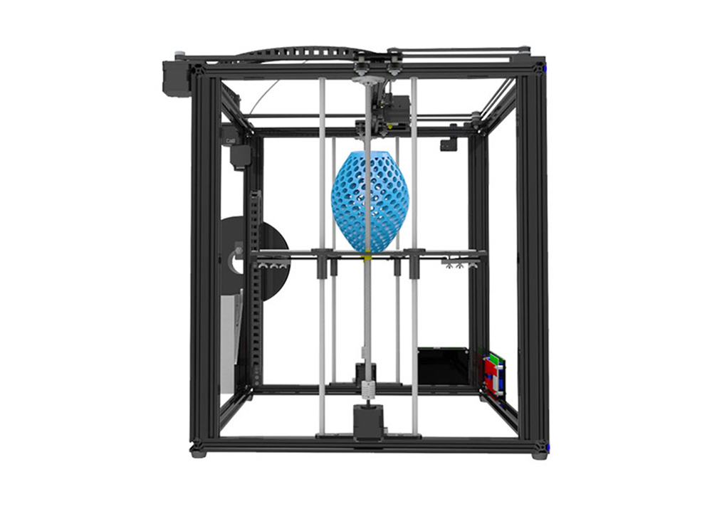 Tronxy X5S Industrial Grade High-precision Metal Frame 3D Printer Kit- Black UK Plug