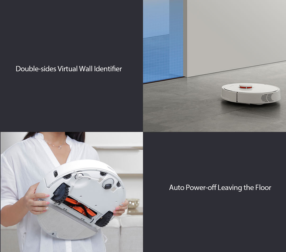 roborock S50 Smart Vacuum Cleaner Intelligent Sensors System Path Planning